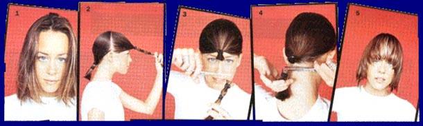 Волосы на Sfino: стрижка самой себе